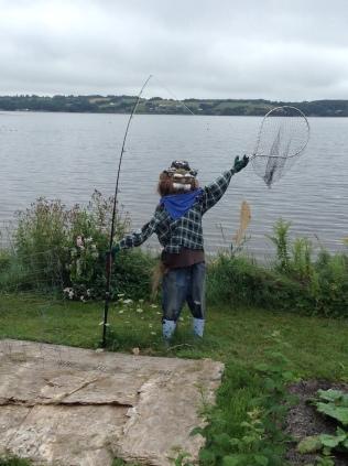 fisherman scarecrow